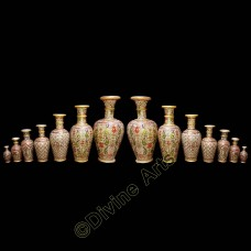 Marble Vase Golden Painting